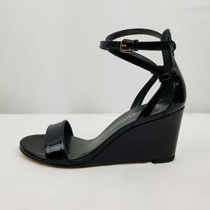 Stuart Weitzman Black Strappy Wedge Sandals size 7